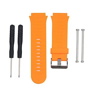 Недорогие Smartwatch Bands-Ремешок для часов для Forerunner 920XT Garmin Спортивный ремешок силиконовый Повязка на запястье