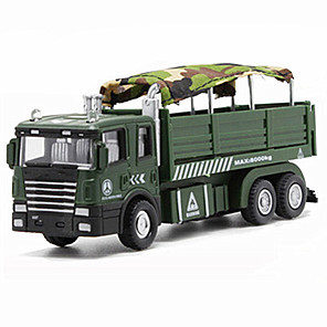 cheap Building Blocks-Tank Military Transport Truck Toy Truck Construction Vehicle Toy Car Model Car Music & Light Pull Back Vehicles Boys' Girls' Kid's Car Toys