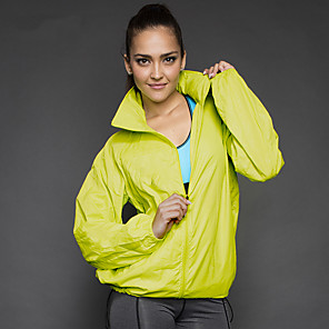 cheap Softshell, Fleece & Hiking Jackets-Men's Women's Hiking Windbreaker Outdoor Waterproof Lightweight Windproof Breathable Top Polyester Full Length Visible Zipper Running Camping / Hiking Hiking Black / White / Sky Blue / Orange / Yellow