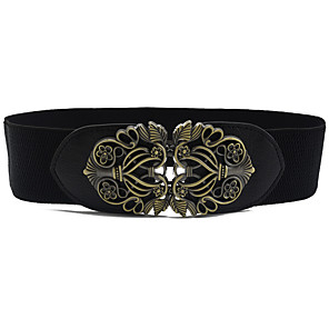 cheap Party Sashes-Women's Party / Work / Active Alloy Skinny Belt - Solid Colored Shiny Metallic / Fashion / PU / Basic