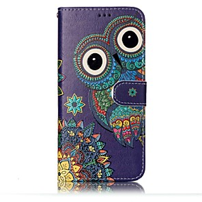 cheap Samsung Case-Case For Samsung Galaxy S8 Plus / S8 / S7 edge Wallet / Card Holder / with Stand Full Body Cases Owl Hard PU Leather