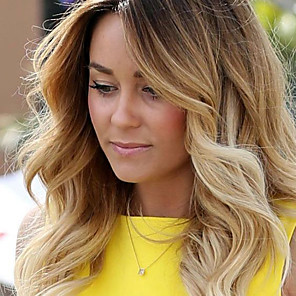cheap Human Hair Wigs-Remy Human Hair Glueless Lace Front Lace Front Wig Beyonce style Brazilian Hair Body Wave Loose Wave Ombre Wig 130% Density with Baby Hair Ombre Hair Natural Hairline African American Wig 100% Hand
