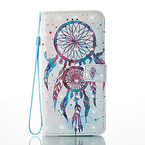 cheap iPhone Cases-Case For Apple iPhone 7 Plus / iPhone 7 / iPhone 6s Plus Wallet / Card Holder / with Stand Full Body Cases Dream Catcher / Flower Hard PU Leather