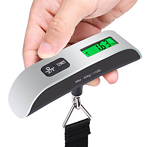 cheap Travel Security-Travel Luggage Scale Portable Luggage Accessory Multi-function Stainless Steel Rubber 1pc Sea Green Travel Accessory