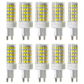 cheap LED Bi-pin Lights-10pcs 10 W LED Bi-pin Lights 900-1000 lm G9 T 86 LED Beads SMD 2835 Dimmable Warm White Cold White Natural White 220-240 V / 10 pcs