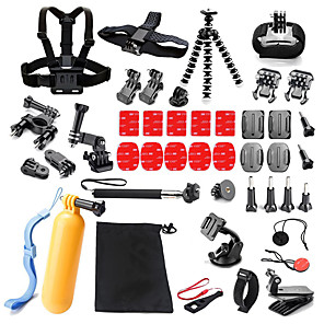 cheap Accessories For GoPro-qqt for gopro accessories 25 in 1 set family kit go pro sj4000 sj5000 sj6000 accessories package for gopro hd hero 3 4 5 camera