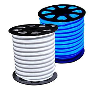 billige Neon EL-lys-HKV 5 m Fleksible LED-lysstriper 300 LED 2835 SMD 1pc Varm hvit Hvit Blå Vanntett Kuttbar Tiktok LED stripelys / IP65