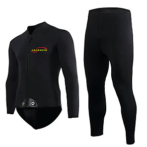cheap Wetsuits, Diving Suits & Rash Guard Shirts-Men's Full Wetsuit 3mm Diving Suit Quick Dry Long Sleeve Diving Solid Colored All Seasons