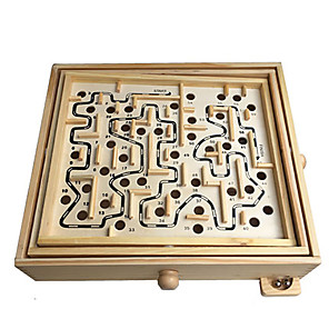 cheap Maze & Sequential Puzzles-Wooden Labyrinth Maze 1 pcs Wooden Kid's Toy Gift