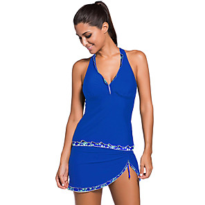 cheap Wetsuits, Diving Suits & Rash Guard Shirts-Women's Tankini Swimwear Swimming Diving Surfing Summer / Beach