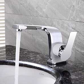 cheap Bathroom Sink Faucets-HPB Contemporary Chrome Finish Brass One Hole Single Handle Sink Faucet