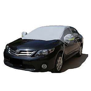 cheap Car Body Decoration & Protection-Semi-coverage Car Covers Reflective For universal All Models for All Seasons