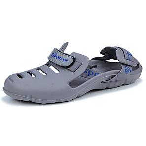 cheap Men's Sandals-Men's Comfort Shoes PU Summer Sandals Blue / Black / Gray / Outdoor / EU40