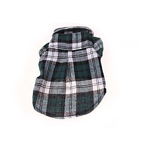 cheap Outdoor IP Network Cameras-Dog Shirt / T-Shirt Plaid / Check Casual / Daily Dog Clothes Red Blue Green Costume Cotton XS S M L XL