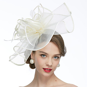 cheap Historical & Vintage Costumes-Net Kentucky Derby Hat / Fascinators / Hats with 1 Wedding / Special Occasion / Tea Party Headpiece