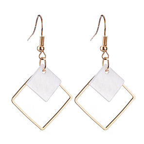 cheap Cell Phone Cables-Women's Drop Earrings Personalized Geometric Dangling Classic Bohemian Simple Style Silver Plated Gold Plated Earrings Jewelry Gold / Silver For Christmas Christmas Gifts Wedding Party Special