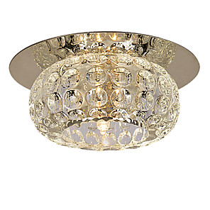 "cheap Pendant Lights-1-Light LightMyself™ 10(4"") Crystal / Mini Style Flush Mount Lights Modern Contemporary 110-120V / 220-240V / G4"