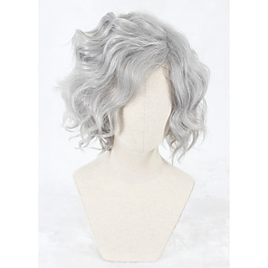 cheap Synthetic Trendy Wigs-Synthetic Wig Wig Short Grey Synthetic Hair Women's Gray