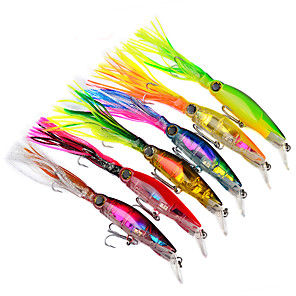 cheap Fishing Lures & Flies-6 pcs Fishing Lures Easy to Use Bass Trout Pike Sea Fishing Plastic