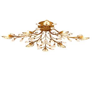 cheap Dimmable Ceiling Lights-LightMyself™ 8-Light 80 cm Crystal Flush Mount Lights Metal Painted Finishes Chic & Modern 200-240V / 110-120V / G9