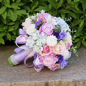 "cheap Wedding Flowers-Wedding Flowers Bouquets Wedding Bead / Lace / Silk 10.24""(Approx.26cm)"