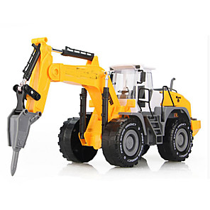 cheap Building Blocks-Toy Car Beach Toy Pull Back Car / Inertia Car Truck Excavating Machinery Extra Large Iron for Unisex