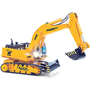 cheap RC Cars-RC Car HUINA 1310 11 Channel 2.4G Excavator / Excavating Machinery 1:16 Brush Electric Remote Control / RC / Rechargeable / Electric