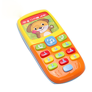cheap Electronic Learning Toys-Toy Phone Model Building Kit Simulation with Screen Kid's Boys' Girls' Toy Gift