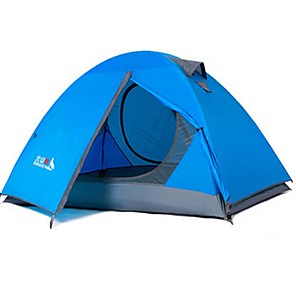 cheap Tents, Canopies & Shelters-BSwolf 2 person Backpacking Tent Outdoor Waterproof Rain Waterproof Dust Proof Double Layered Camping Tent 2000-3000 mm for Camping / Hiking Terylene Aluminium