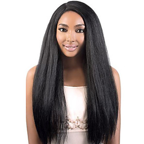 cheap Human Hair Wigs-Remy Human Hair Glueless Lace Front Lace Front Wig style Brazilian Hair Straight kinky Straight Wig 130% 150% Density with Baby Hair Natural Hairline African American Wig 100% Hand Tied Women's Short