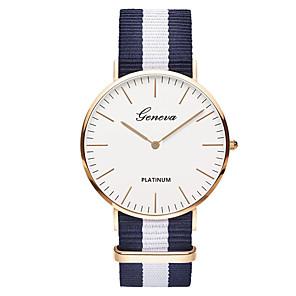 cheap Quartz Watches-Geneva Men's Wrist Watch Quartz Nylon Black / Brown Analog Ladies Luxury Vintage Casual Fashion - Green Pink White / Red One Year Battery Life / SSUO 377