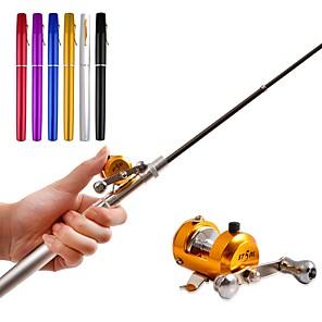 cheap TWS True Wireless Headphones-Portable Pocket Telescopic Mini Fishing Rod Pen Rod & Reel Combos Aluminum Alloy Fishing Rod 1M