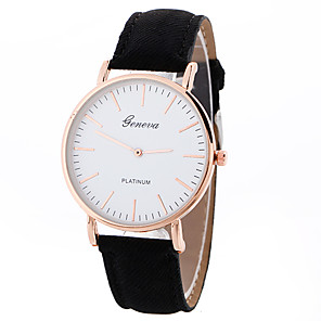 cheap Makeup Brush Sets-Geneva Women's Sport Watch Wrist Watch Quartz Leather Black / White / Brown Creative Casual Watch Cool Analog Ladies Charm Luxury Casual Fashion - White Black Brown One Year Battery Life / SSUO LR626