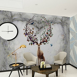 cheap Wallpaper-Pattern Home Decoration Modern Wall Covering, Non-woven fabric Material Adhesive required Mural, Room Wallcovering