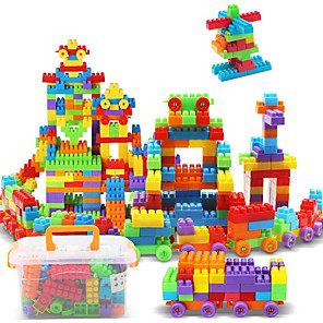 cheap Building Blocks-Building Blocks 3D Puzzle Jigsaw Puzzle Logic & Puzzle Toy Educational Toy Construction Set Toys Stress Reliever 180 pcs Novelty compatible Legoing Unisex Boys' Girls' Toy Gift / 14 years+ / Kid's