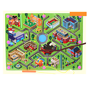 cheap Maze & Sequential Puzzles-Maze Magnetic Maze 1 pcs Wooden Magnetic Boys' Girls' Kid's Toy Gift