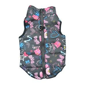 cheap Dog Clothes-Cat Dog Coat Shirt / T-Shirt Sweatshirt Winter Dog Clothes Black Fuchsia Jade Costume Cotton Heart Party Casual / Daily Keep Warm XS S M L