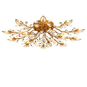 cheap Ceiling Lights-15-Light LightMyself™ 90 cm Crystal Flush Mount Lights Metal Painted Finishes Chic & Modern 200-240V / 110-120V / G9