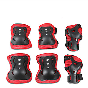 cheap Soccer Shoes-Protective Gear / Knee Pads + Elbow Pads + Wrist Pads for Ice Skating / Skateboarding / Inline Skates Scratch Proof / Anti-Friction / Shockproof 6 pack Outdoor clothing PVC(PolyVinyl Chloride)