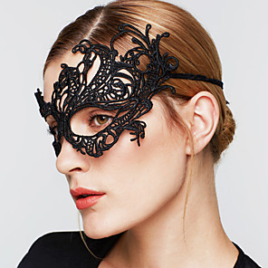 cheap Hair Jewelry-Women's Gothic Jewelry Mask For Wedding Party Special Occasion Lace Black