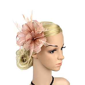 cheap Latin Dancewear-Plastic Fascinators / Flowers with 1 Wedding / Special Occasion / Party / Evening Headpiece