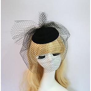 cheap Fascinators-Resin / Cotton Fascinators / Hats with 1 Wedding / Special Occasion / Halloween Headpiece