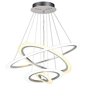 cheap Projectors-Pendant Light Ambient Light Painted Finishes Metal Acrylic Adjustable, Dimmable 110-120V / 220-240V LED Light Source Included / LED Integrated