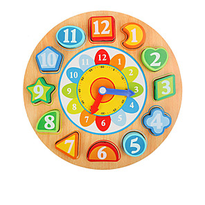 cheap Stuffed Animals-Pegged Puzzles Wooden Clock Toy Math Toy Clock Education Kid's Toy Gift