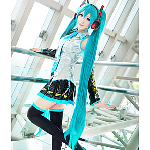cheap Anime Cosplay Wigs-Vocaloid Hatsune Miku Cosplay Wigs Women's With 2 Ponytails 48 inch Heat Resistant Fiber Anime Wig