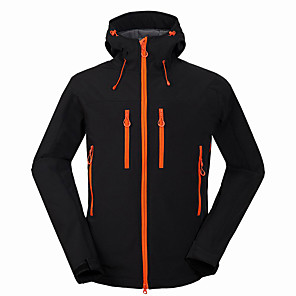 cheap Softshell, Fleece & Hiking Jackets-Men's Hiking Softshell Jacket Hiking Jacket Winter Outdoor Thermal / Warm Waterproof Windproof Breathable Jacket Windbreaker Top Softshell Running Camping / Hiking Hunting Black / Blue / Gray Camping