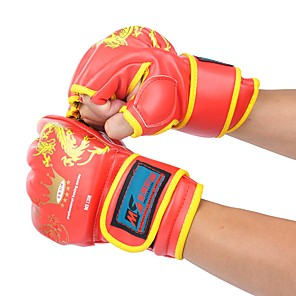 cheap Fitness Gear & Accessories-Boxing Training Gloves For Boxing Fingerless Gloves Safety Unisex - Black Red