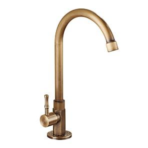 cheap Latin Dancewear-Kitchen faucet Antique Brass Vessel Antique Kitchen Taps High Arc Bronze