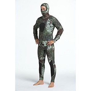cheap Wetsuits, Diving Suits & Rash Guard Shirts-Men's Full Wetsuit 3mm Diving Suit UV Sun Protection Anatomic Design Long Sleeve Diving Surfing Camouflage All Seasons