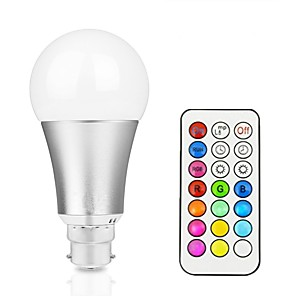 cheap LED Smart Bulbs-1pc 12 W LED Smart Bulbs 800 lm B22 E26 / E27 A60(A19) 1 LED Beads Integrate LED Dimmable Remote-Controlled Decorative RGBW RGBWW 85-265 V / 1 pc / RoHS